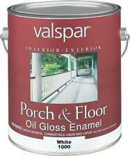 NEW VALSPAR CASE OF (2) GALLONS # 1000 WHITE OIL GLOSS PORCH FLOOR PAINT