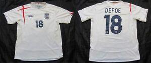 Jermain Defoe #18 ENGLAND  WORLD CUP 2006 home shirt UMBRO jersey adult SIZE XL