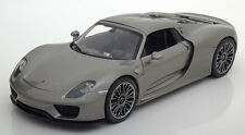 1:18 Welly Porsche 918 Spyder Hard-Top 2012 greymetallic