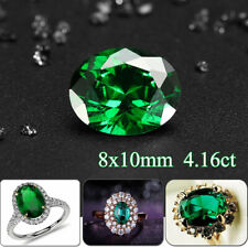 8x10mm 4.16ct Natural MINED Colombia Green Emerald Oval Cut VVS AAA GEMSTONE