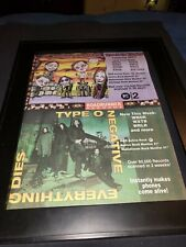 Coal Chamber/Type O Negative Rare Original Radio Promo Poster Ad Framed!