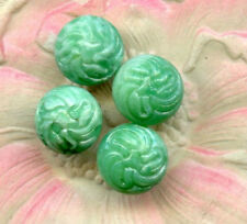 VINTAGE JADE Art Glass Buttons CHARMS SEW ONS BEADS Matrix JEWELRY FINDINGS lot