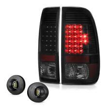 99-07 Ford SuperDuty F250 F350 BLACK SMOKE LED Tail Lamp License Plate Tag Light