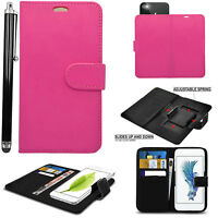Universal Magnetic Leather Wallet Book Flip Case Cover For ZTE Phone Models