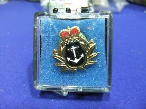 pin badge naval royal navy armed services in box remembrance sweetheart