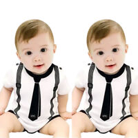 Newborn Baby Kids Girls Boys Clothes Casual Romper Playsuit Jumpsuit Outfits New
