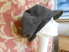 FUN COCOA BROWN HATHANDMADE NEWSBOY CAP COSTUME HAT 1940's HAT HALLOWEEN # 4096