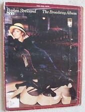 Barbra Streisand Broadway Album Variety Songs Voice Piano Unmarked