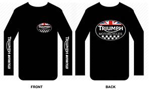 Triumph T shirt Long sleeve motorbike motorcycle biker vintage