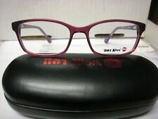 HOT KISS  EYEGLASS FRAMES Style HK71  in BURGUNDY 52-16-135  with case