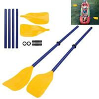 1 Pair Detachable Canoe Kayak PVC Oar Paddles Inflatable Rowing Rafting Boat Kit