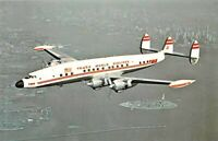 TWA-TRANS WORLD AIRLINES Lockheed L-1049G Super G  Airplane Postcard