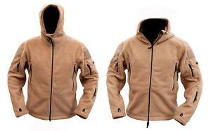 Mens Military Army Combat Recon Hoodie Zip Fleece Hoodies Sweat Shirt Jacket New
