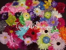 100 Flower Heads w/ No Clips for Making Crafts Hair Clips Headbands Wholesale