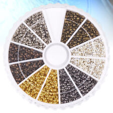 3000 Pcs Tube Crimp Beads Metal Jewelry Making Spacer for Necklace