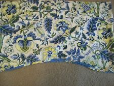 Waverly Imperial Dress Floral Valance Blue Yellow 76x20 French Country Jacobean