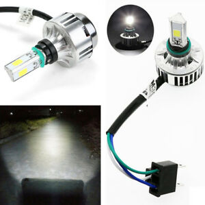 Motorcycle Scooter H4 LED Bulbs Waterproof Hi/Lo Beam Headlight with 4x Socket