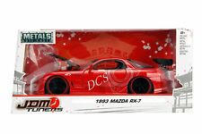 JADA JDM TUNERS 1993 MAZDA RX-7 1/24 DIECAST MODEL CAR GLOSS RED 98677
