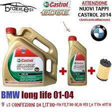 5LT ACEITE MOTOR CASTROL BORDE 5W30 FST VW 504.00 BMW LONGLIFE+FILTRO DE ACEITE