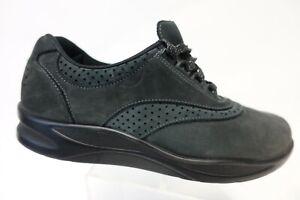 SAS Walk Easy Black Sz 7.5 M Women Leather Diabetic Lace-Up Oxfords