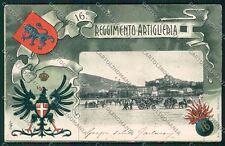 Militari Reggimentale Artiglieria Brescia cartolina QQ7842