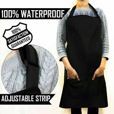 Salon Haircut Apron with Pockets Pattern Waterproof Hairdressing Aprons BLACK