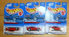 3 NEW HOT WHEELS MERCEDES C-CLASS RED 131