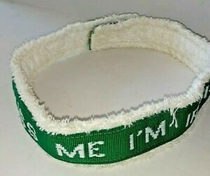 Vintage Kiss Me I'm Irish Sweatband Headband Headwrap Green & White Jersey Cloth