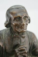 † JOHN MARY BAPTIST VIANNEY RELIQUARY 19th BRONZE THE CURE OF ARS by E.CABUCHET