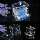 Clear Acrylic Q-tip Makeup Storage Cotton Swab Organizer Box Cosmetic Holder AU
