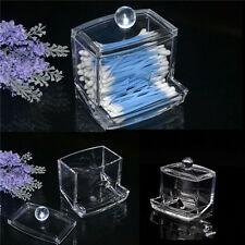 Clear Acrylic Q-tip Makeup Storage Cotton Swab Organizer Box Cosmetic Holder IJき