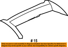 Jeep CHRYSLER OEM Liberty Roof Rack Rail Luggage Carrier-Front Cover 5JA18RXFAC