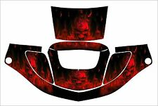 3M SPEEDGLAS 9000 9002 X XF SW JIG WELDING HELMET WRAP DECAL STICKER skull red