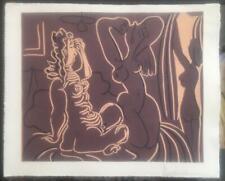 Lithographie con Pablo Picasso handsigniert.