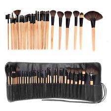 32PCS Wood Make up Brushes Set Brown Professional Cosmetic MakeUp Bobbi Set Tool