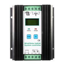 12V/24V LCD PWM Wind/Solar Hybrid System Controller 600W Wind+400W Solar Black