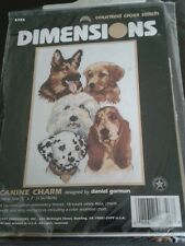 """Dimensions """"canine charme"""" neuf scellé counted cross stitch kit"""
