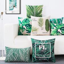 Wasserfarbe tropische Pflanze Monstera Palme Blatt Kissenbezug Kissenbezug