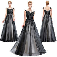 Vintage Applique Long Evening Ball Gown Masquerade Party Prom Bridesmaid Dress