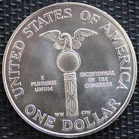 USA ONE DOLLAR LE CONGRÈS 1989 ARGENT