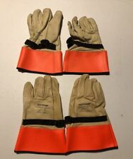 """Lot of 2 Voltgard Vlp-312 Leather Protective Gloves Size 11-11.5"""" Length 12"""""""