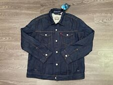 Levi's x Outerknown Wellthread Lined Trucker Jacket Dark Wash Mens XL $185 NEW