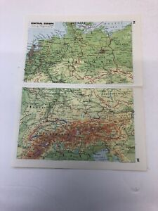 Map 1985: Central Europe Scandinavia Iceland Italy 35 Years Old Print Maps