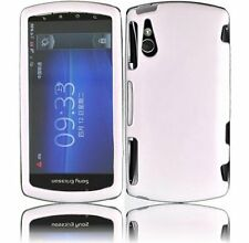Hard Rubberized Case for Sony Ericsson Xperia Play R800 - White