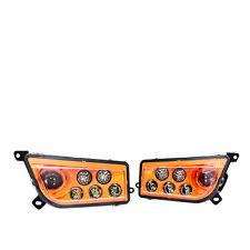 New 14 15 16 17 RZR 1000 XP for Polaris Orange LED Headlight Conversion Kit 2pc
