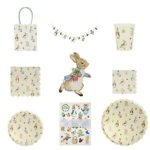 Peter Rabbit & Friends Party Tableware, Baby Shower, 1st Birthday by Meri Meri