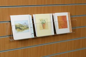 Slatwall Fixing CD/DVD Book Greeting Cards Books Information Display Stand Rack