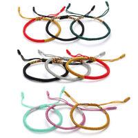 lucky corde bracelet tissus de soie en main bouddhistes tibétains noeuds
