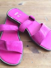 Marks & Spencer Hot Pink Suede Mules Size 5
