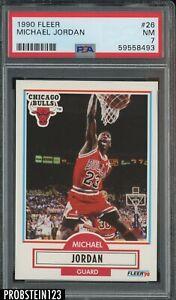 1990 Fleer #26 Michael Jordan Chicago Bulls HOF PSA 7 NM